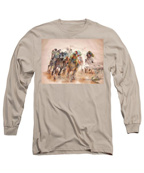 Long Sleeve T-Shirt featuring the painting American  Pharaoh  Album  by Debbi Saccomanno Chan