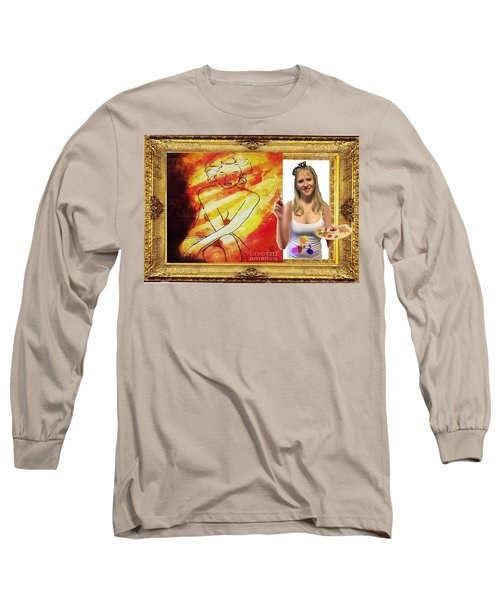 Long Sleeve T-Shirt featuring the digital art Cover Art For Gallery by Diana Riukas