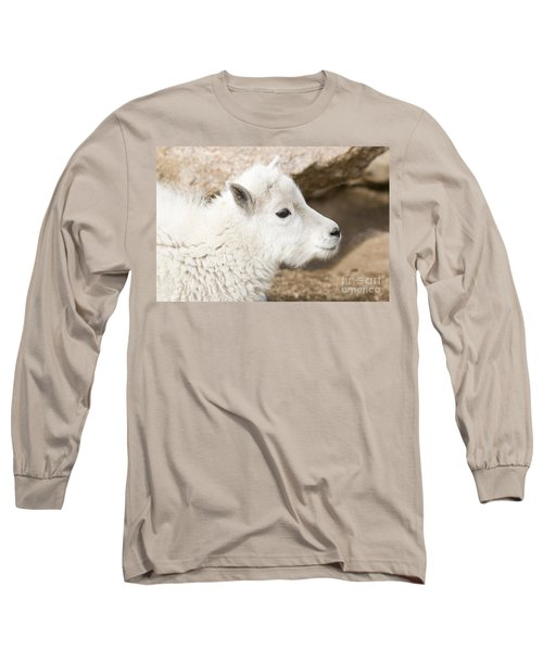 Baby Mountain Goats On Mount Evans Long Sleeve T-Shirt