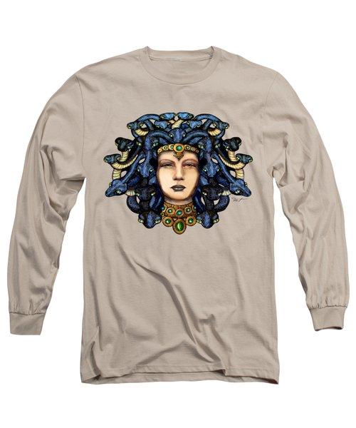 16x20 Medusa 2 Blu Gold Long Sleeve T-Shirt