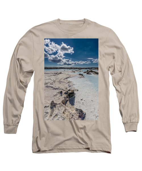 Silica Deposits In Water By The Long Sleeve T-Shirt