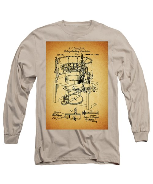1871 Rotary Knitting Machine Long Sleeve T-Shirt by Dan Sproul