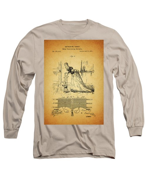 1874 Baby Exercising Corset Long Sleeve T-Shirt by Dan Sproul