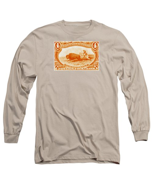 1898 Indian Hunting Buffalo Long Sleeve T-Shirt