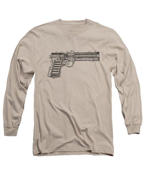 1903 Mcclean Pistol Patent Minimal - Vintage Long Sleeve T-Shirt