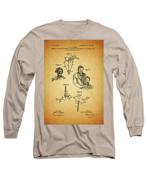 1904 Dental Forceps Patent Long Sleeve T-Shirt by Dan Sproul