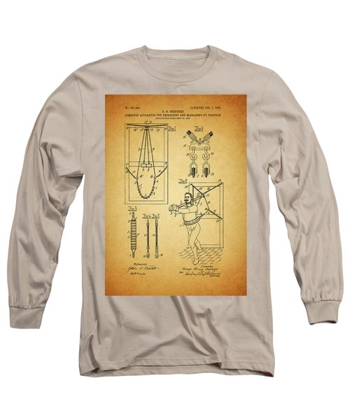 1905 Exercise Apparatus Patent Long Sleeve T-Shirt by Dan Sproul