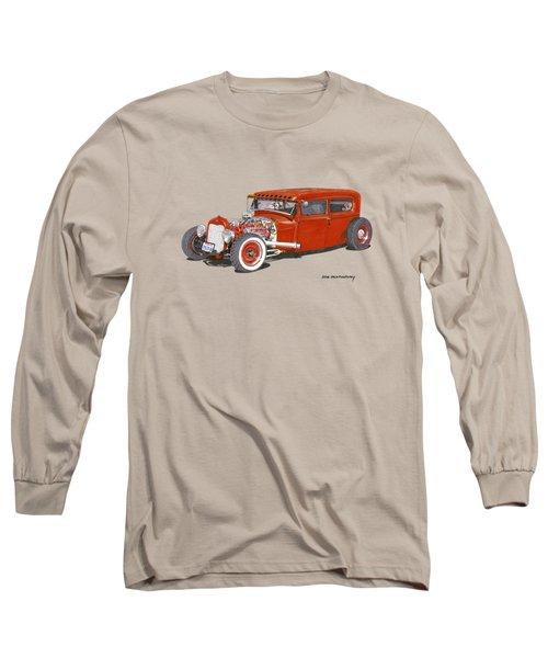 1928 Ford Tudor Jalopy Ratrod Long Sleeve T-Shirt by Jack Pumphrey