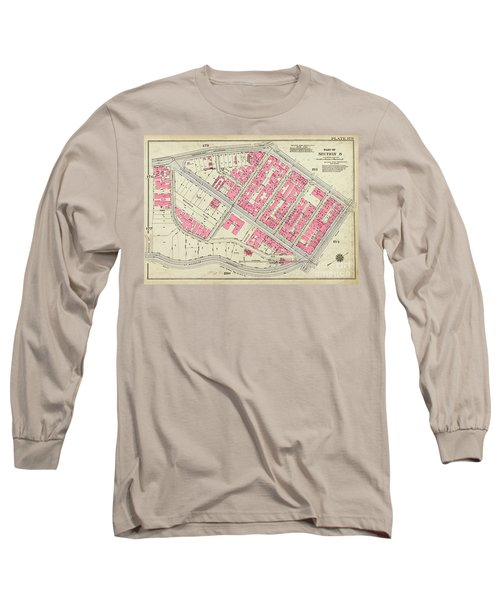1930 Inwood Map  Long Sleeve T-Shirt by Cole Thompson