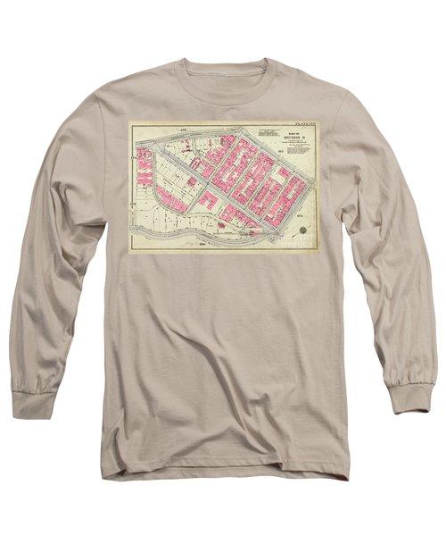 1930 Inwood Map  Long Sleeve T-Shirt