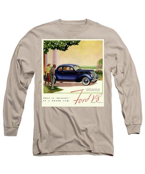 1937 Ford Car Ad Long Sleeve T-Shirt