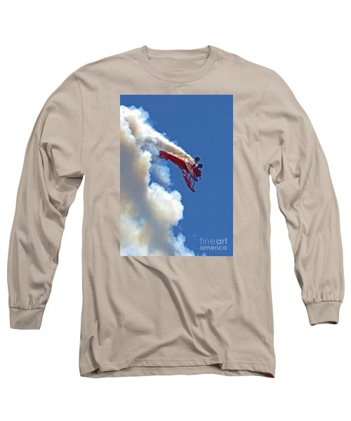 1940 Boeing Stearman Biplane Stunt 2 Long Sleeve T-Shirt