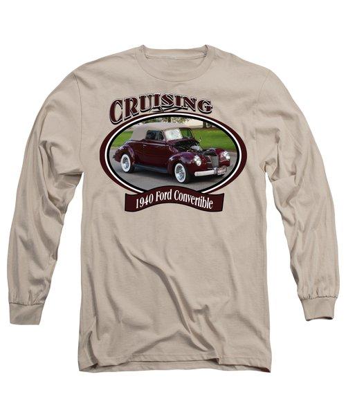 1940 Ford Convertible Morrell Long Sleeve T-Shirt
