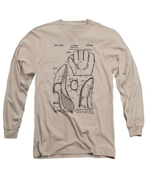 1941 Baseball Glove Patent - Vintage Long Sleeve T-Shirt by Nikki Marie Smith