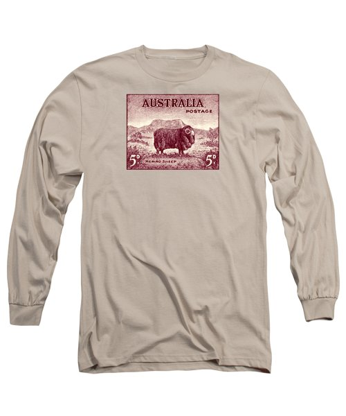 1946 Australian Merino Sheep Stamp Long Sleeve T-Shirt