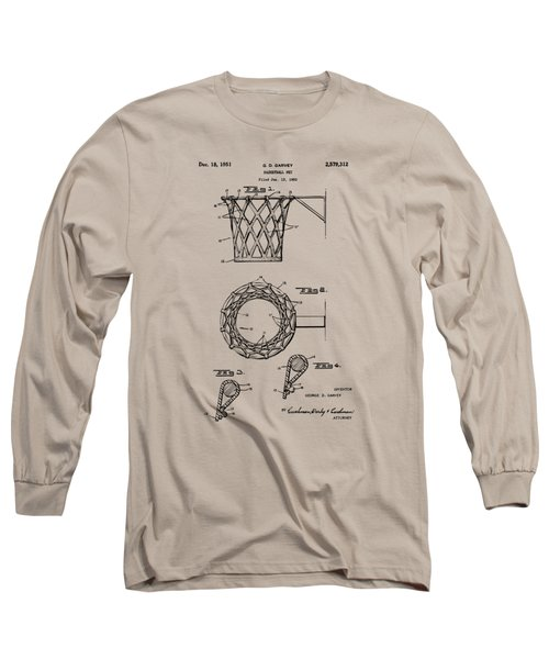 1951 Basketball Net Patent Artwork - Vintage Long Sleeve T-Shirt by Nikki Marie Smith