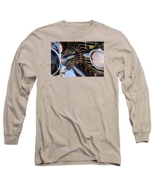 1957 Chevy Bel Air Grill Abstract 1 Long Sleeve T-Shirt