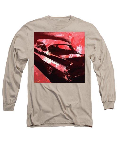 1957 Pontiac Super Chief Red Pop Long Sleeve T-Shirt
