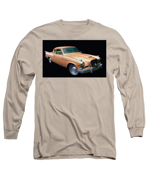 1957 Studebaker Golden Hawk Digital Oil Long Sleeve T-Shirt