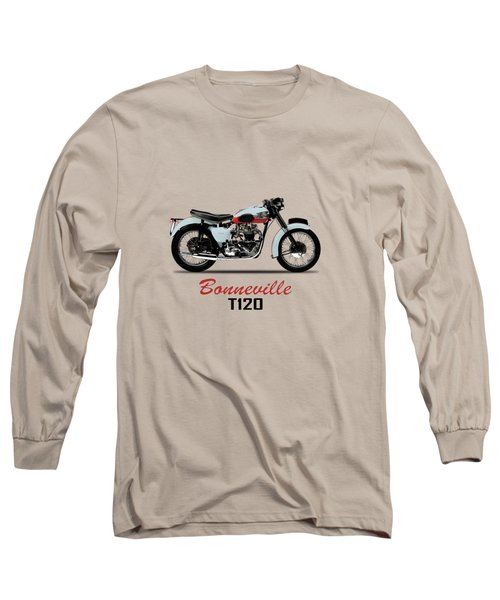 1959 T120 Bonneville Long Sleeve T-Shirt by Mark Rogan