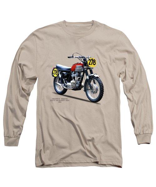 1964 Steve Mcqueen Isdt Long Sleeve T-Shirt
