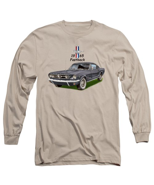 Mustang Fastback 1965 Long Sleeve T-Shirt by Jack Pumphrey