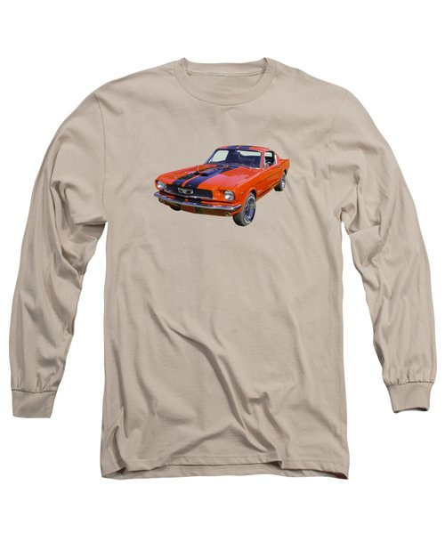 1966 Ford Mustang Fastback Long Sleeve T-Shirt