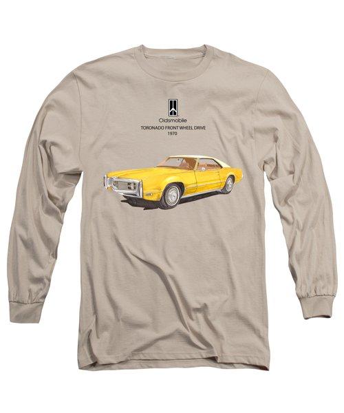 1970 Oldsmobile Toronado Long Sleeve T-Shirt by Jack Pumphrey