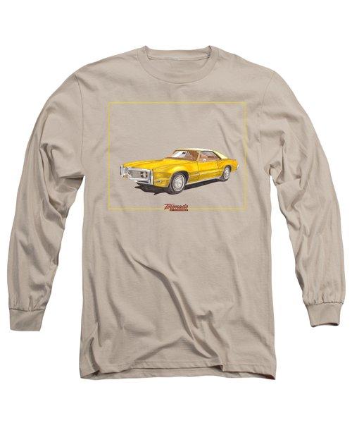 Long Sleeve T-Shirt featuring the painting 1970 Olds Toronado Terific Tee Shirt by Jack Pumphrey