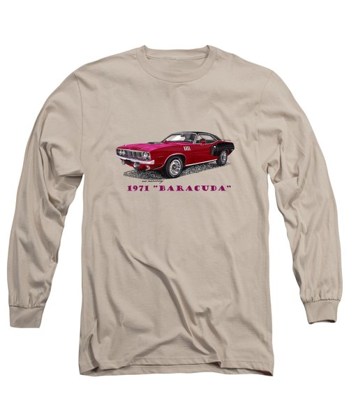 1971 Plymouth Barracuda Long Sleeve T-Shirt