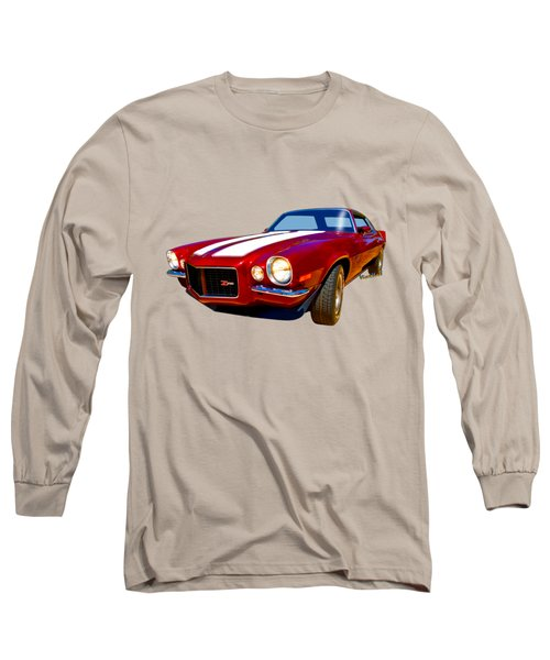 1971 Z28 Camaro Hdr Vivid Remembrance Long Sleeve T-Shirt