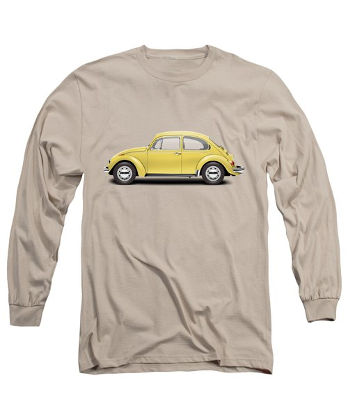 1972 Volkswagen Beetle - Saturn Yellow Long Sleeve T-Shirt by Ed Jackson