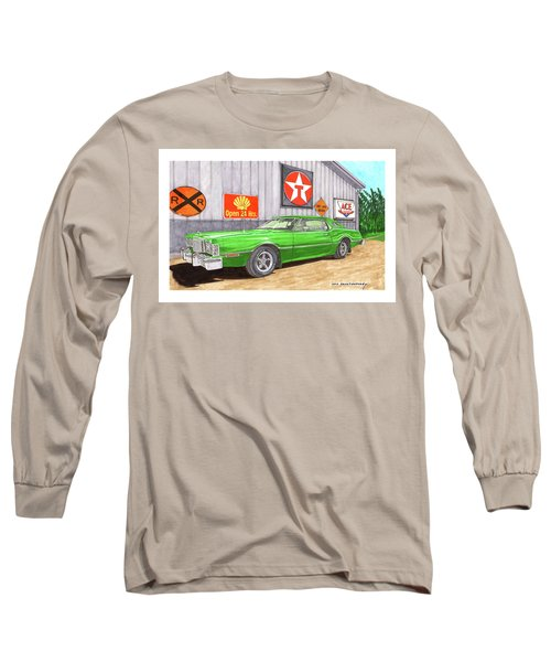 Long Sleeve T-Shirt featuring the painting 1976 Ford Thunderbird by Jack Pumphrey