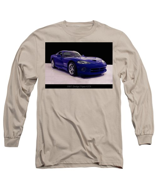Long Sleeve T-Shirt featuring the digital art 1997 Dodge Viper Gts Blue by Chris Flees