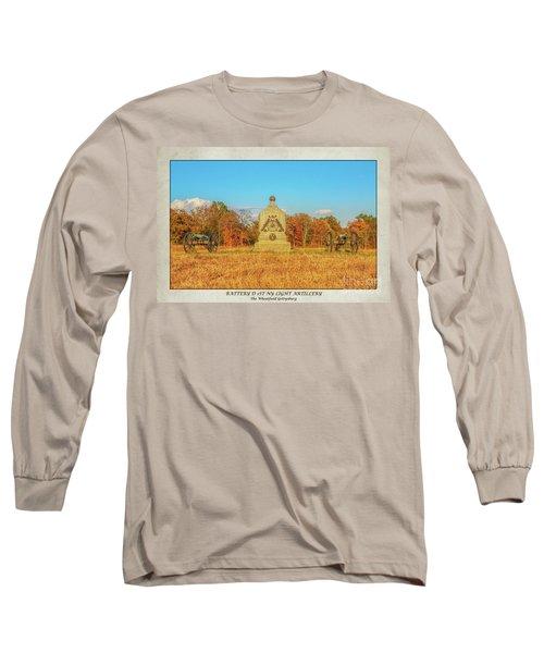 1st New York Battery D Gettysburg Poster Long Sleeve T-Shirt by Randy Steele