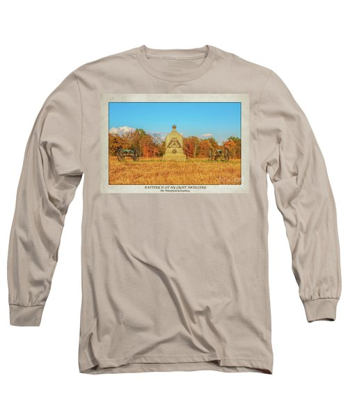 1st New York Battery D Gettysburg Poster Long Sleeve T-Shirt
