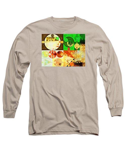 Abstract Painting - Kelly Green Long Sleeve T-Shirt by Vitaliy Gladkiy