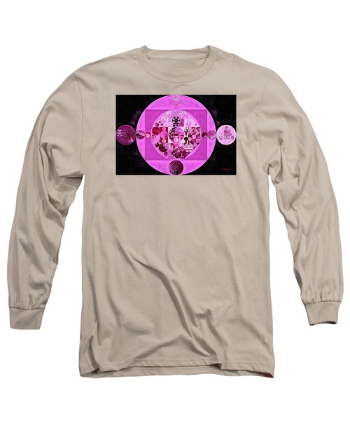Long Sleeve T-Shirt featuring the digital art Abstract Painting - Lavender Magenta by Vitaliy Gladkiy