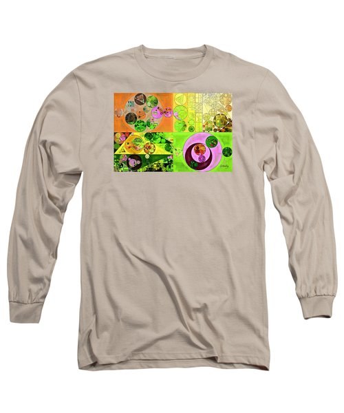 Abstract Painting - Turtle Green Long Sleeve T-Shirt