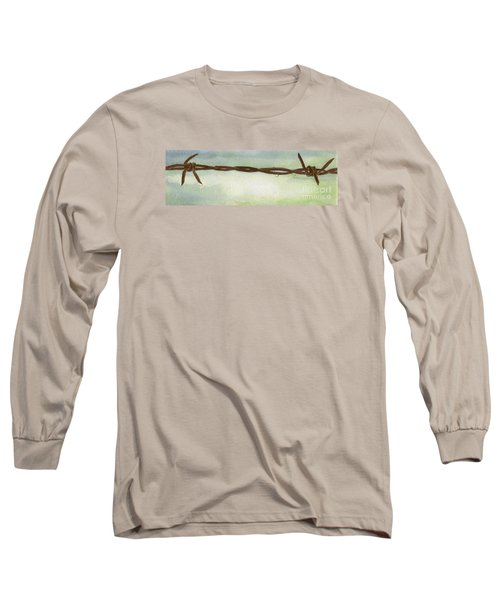 Long Sleeve T-Shirt featuring the painting Auschwitz by Annemeet Hasidi- van der Leij