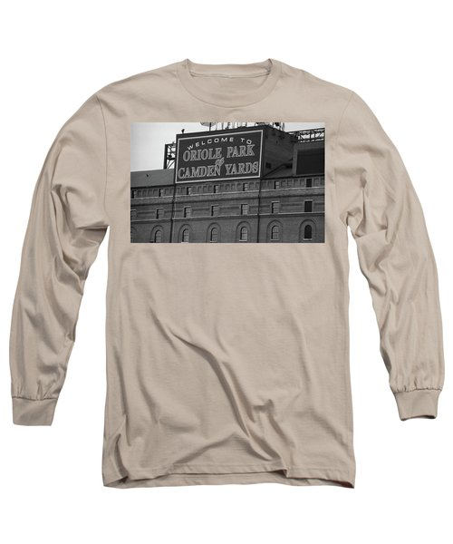 Baltimore Orioles Park At Camden Yards Bw Long Sleeve T-Shirt