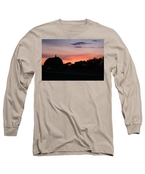 Barn Sunset Long Sleeve T-Shirt