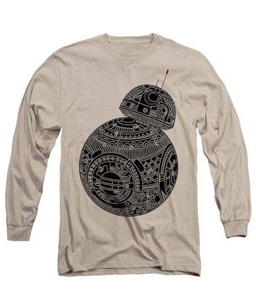 Bb8 Droid - Star Wars Art, Brown Long Sleeve T-Shirt