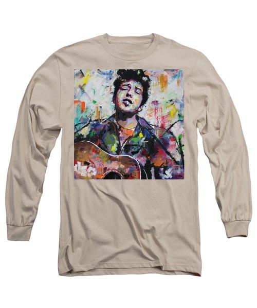 Bob Dylan Long Sleeve T-Shirt by Richard Day