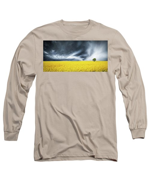 Long Sleeve T-Shirt featuring the photograph Canola Field by Bess Hamiti