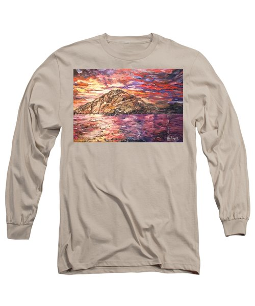 Long Sleeve T-Shirt featuring the painting Close To You by Belinda Low