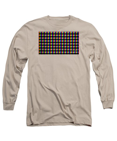 Clouseup Of The Plasma Tv Screen Long Sleeve T-Shirt by Odon Czintos