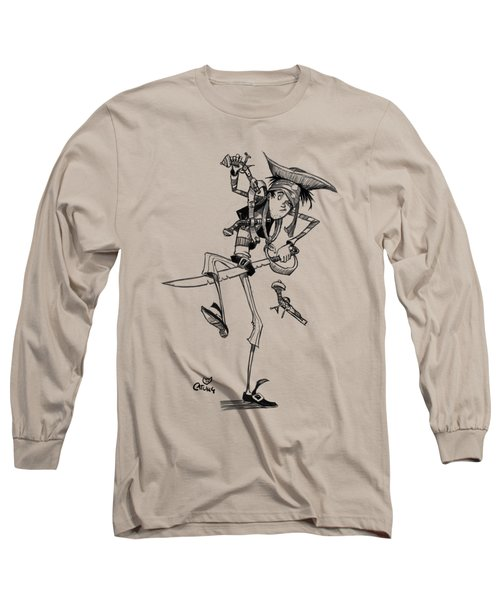 Clumsy Pirate Long Sleeve T-Shirt by Andy Catling