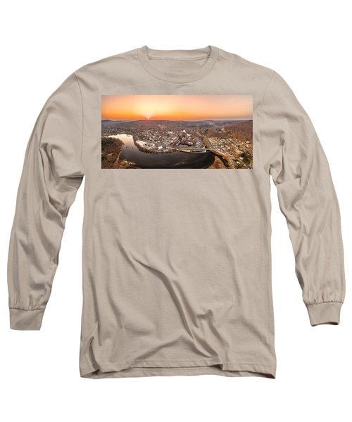 Colinsville, Connecticut Sunrise Panorama Long Sleeve T-Shirt by Petr Hejl