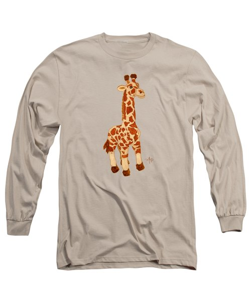 Cuddly Giraffe Long Sleeve T-Shirt by Angeles M Pomata